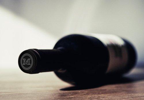 Imagen de una botellas de vino - Montenegro